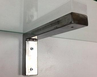 Pair of Steel Tube Shelf Brackets