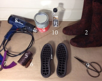 How to attach the sole to the felt boots. sole-winter sole-shoes-felted boots