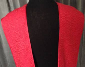 Red Clergy Stole, Handwoven Clergy Stole, Handmade Clergy Stole, Ministers Stole, Vestments, Deacons Stole, Ecclesiastical Stole