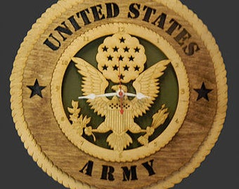 U.S. Army Clock laser engraved 12 inch