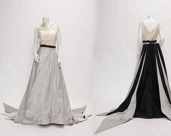 silver gown by antonio garcia vintage 1990s • Revival Vintage Boutique