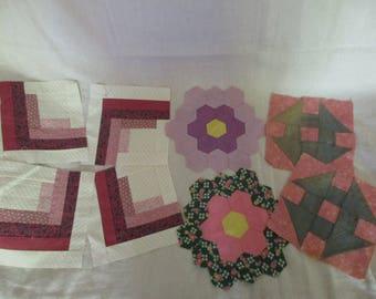 Set of (8) Vintage Quilt Squares