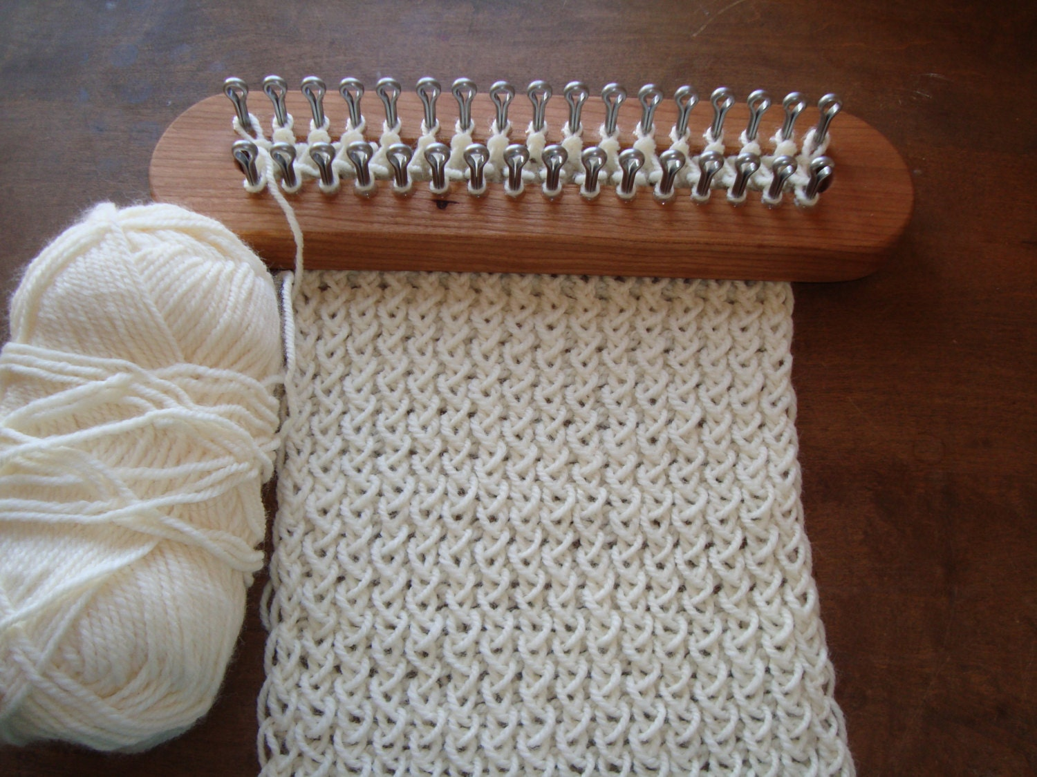 Knitting Loom Set : Dassenplank off set type knitting loom board by cottagelooms