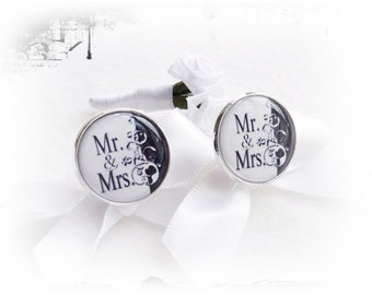 Cufflinks, Mrs and Mr.