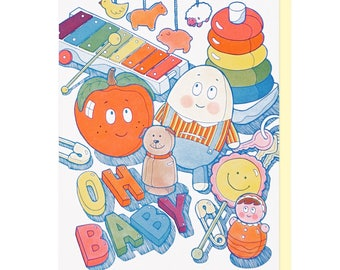 Oh Baby Toys Letterpress Card