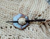 Ceramic Shawl Pin/ Shawl Pin