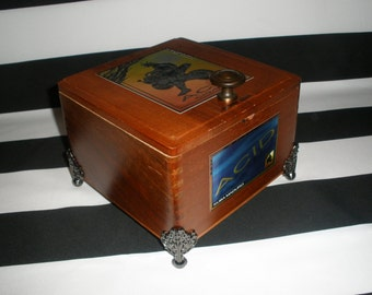 Acid Cigar Box Valet, Man Box, Watch Box, Gun Box, Stash Box, Jewelry Box, Guy Gift, Tampa