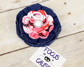 Valentine's Day Dog Collar Flower Accessory, Collar Accessory, Fabric Flower, Focus for a Cause