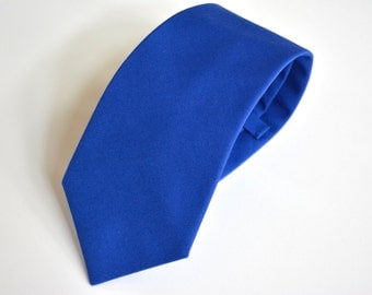 royal blue cotton necktie/mens tie/necktie