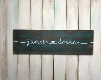 Personalized Sign- Wedding Gift- Name Sign- Custom Sign- Home Decor- Gift for Her- Wedding Sign- Housewarming Gift- Valentines Day Sign