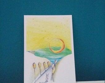 Evening walk (1 card)
