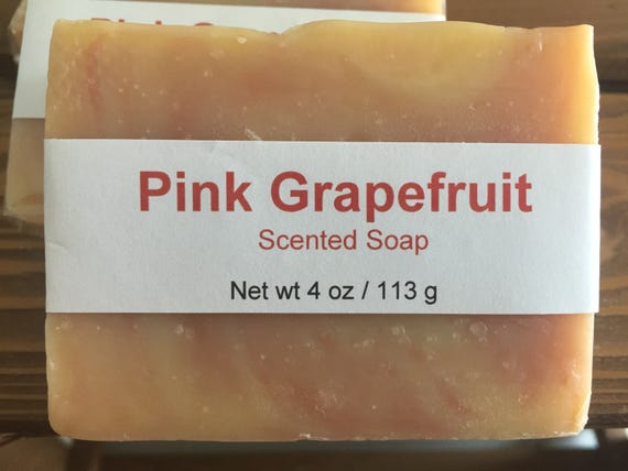 Pink Grapefruit Scented Cold Process Soap with Shea Butter