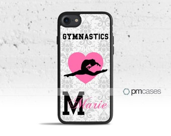 Personalized Gymnastics Case Cover for Apple iPod Touch & iPhone 4/4s/5/5s/5c/6/6s/7/Plus/SE
