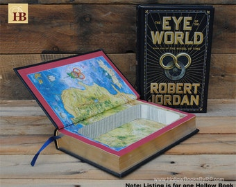 Hollow Book Safe - The Eye of the World - Leather Bound