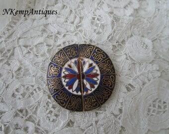 Antique enamel buckle