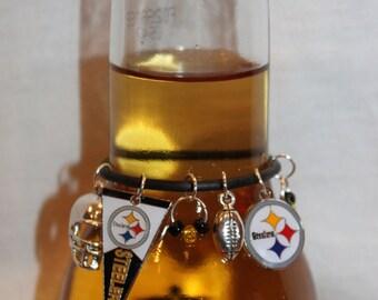 Pittsburgh Steelers Beer Charm Steelers Wine Charms Steelers Charms Football Charms