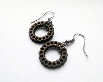 Hoop Earrings - Wood Earrings, Lightweight Jewelry, Laser Cut Earrings, Joanna Gaines, Wood Jewelry, Natural Jewelry, Gift for Women