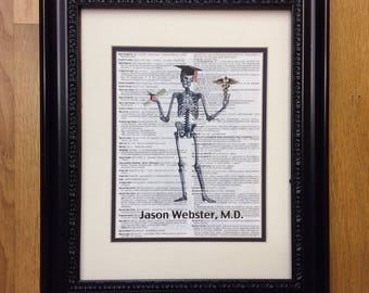 Medical School Graduation Gift - MD, DR. Physician Assistant, Nurse, RN  Print on Dorland Page
