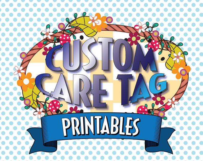 Custom Text on Your Favorite Laundry Care Tag in Our Shop