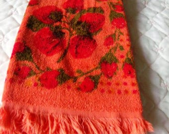 VINTAGE NEW One Velour Strawberry Hand TOWEL Never Used Store Stock  Perfect Condition