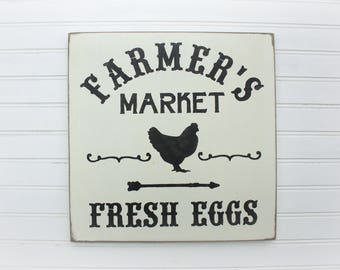 Fresh Eggs, 12x12, Fresh Eggs Sign, Handpainted