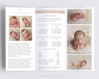 Photography Trifold Template, Trifold Photography Pricing Guide, Photography Sell Sheet, Trifold Pricing Guide - Photography Flyer