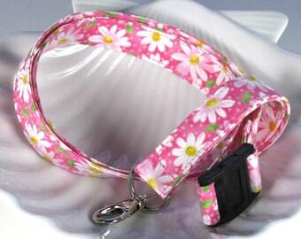 Daisy Flowers Lanyard - ID Holder
