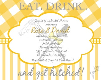 Bridal Shower Picnic Theme Invitation (DIGITAL FILE)