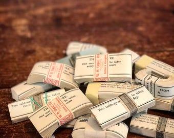Original assorted apothecary or chemist labels for vintage or antique medicine bottles antique medical collector's labels