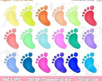 Baby feet clip art | Etsy