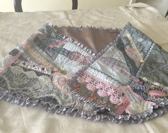 Silks and different types of fabrics and lace shawl