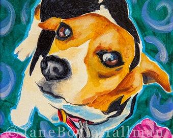 "Beagle - 8x10"" Print of Original Dog Portrait Acrylic Painting"