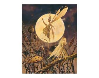 Cobweb 11x14 inch fairy art poster by David Delamare