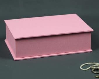Jewelry box, jewelry box, box, box, pencils box, fabric-based boxes, desk box, box bright pink