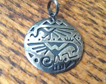 Sterling Native American Pendant