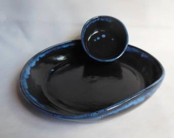 Oval Chip-n-Dip in Black