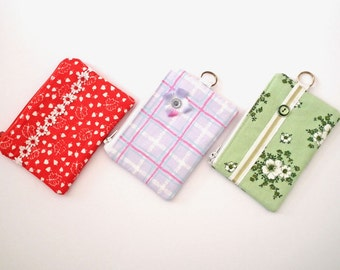 Coin Purse, Mini Make Up Bag, Zipped Purse, Small Purse, Credit Card Holder, Zippered Pouch, Mini Zip Pouch, Free UK Shipping, UK Seller