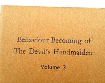Handmaiden - Small Funny Letterpress Notebooks, Jotters, Carnets, Journals, Cahiers - A6 Moleskine Notebooks