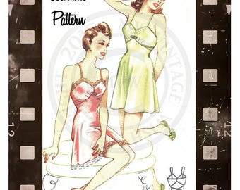1940s Camiknickers Lingerie -  Paper Sewing Pattern