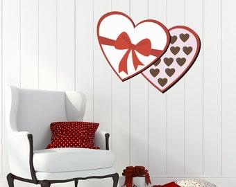 Heart Box of Chocolates Valentine's Day Wall Sticker