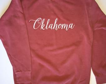 Oklahoma Comfort Colors Sweatshirt