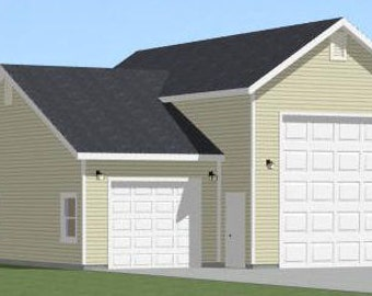 Items similar to 16x32 tiny houses 511 sq ft pdf for 32x40 garage plans