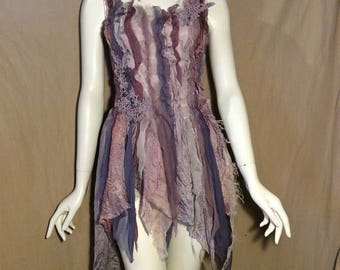 Fairy Top Bridesmaid Dancing Light Purple violet Dusty Pink Wedding Party Event (Reserved)