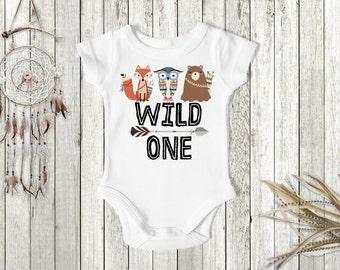 Tribal Boy's Birthday Shirt, Wild One Birthday Shirt, Woodland's Boy Birthday, 1st Birthday Shirt, First Birthday Shirt, Boy's 1st Birthday