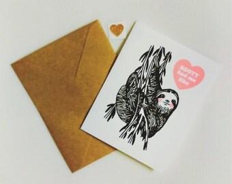 Booty Had Me Like Sloth Blank Greeting Card