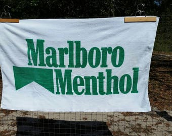 Vintage Marlboro Menthol beach towel