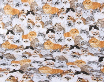 Pretty cat pattern soft Cotton Fabric 46*115 cm 1/2 Y