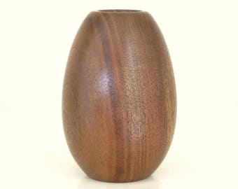 Egg Vase Handcrafted in Walnut