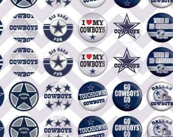 Dallas Cowboys Themed Bottle Cap Cabochon Bubble Images Printable Instant Download