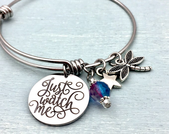Just Watch Me - fully customizable bangle bracelet
